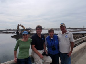 Photo showing MSRP staff with partners in the field