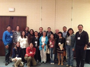 Photo showing international participants at the 8th California Islands Symposium