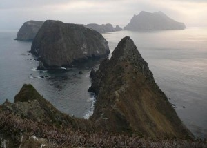 Photo showing west and east Anacapa Islands